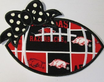 Team Razorbacks - Iron On or Sew On Embroidered Applique - Ready To Ship in 3-5 Business Days