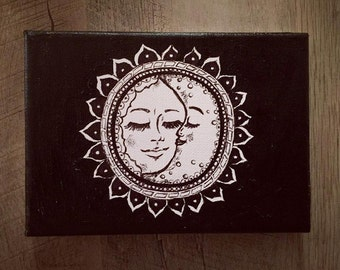 Sun and Moon on Stretched Canvas