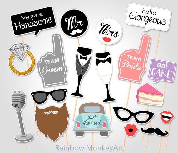 Wedding party printable photo booth props hen party photo wedding party printable photo booth props hen party photo booth props bachelorette party photobooth props bridal shower party props junglespirit Images