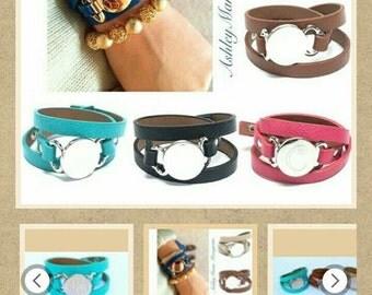 Monogram Layered Cuff Bracelet