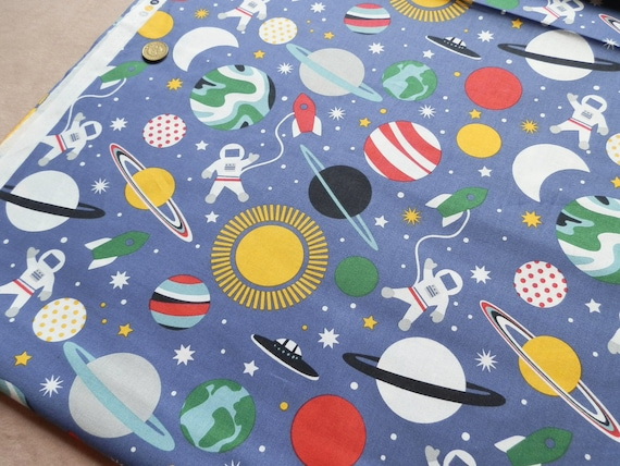 Blend print fabric planet buzz printed cotton from for Fabric planet