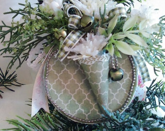 Christmas ornament that is handmade and one of a kind.