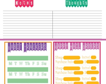 Popsicle 8.5 x 11 sizeable Planner Insert