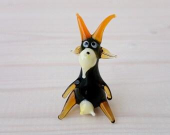 Goat Glass Figurine - Glass Art - Mini Glass Figure - Collectible  Figurine - Glass Sculpture - Lampworking - Glass Miniature (3-1020)
