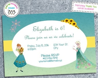 Frozen Fever Custom Party Invitation