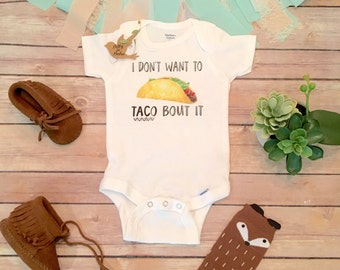 Hipster Baby Clothes, Unique Baby Gift, Taco Onesie®, Funny Baby Onesies, Baby Shower Gift, Taco Shirt, Unisex Baby Clothes, Funny Baby Gift