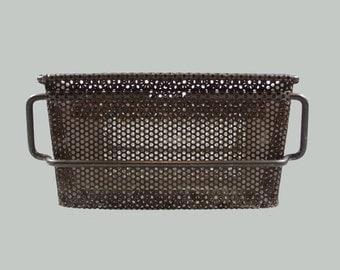 Vintage Industrial Steel Mesh Basket