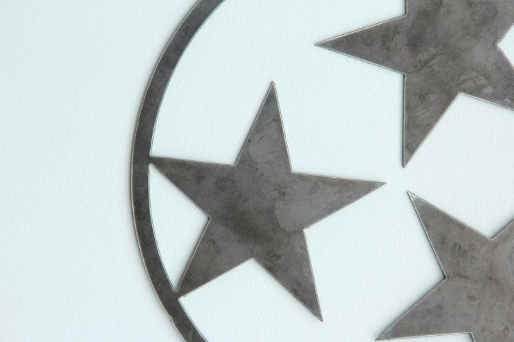 Tennessee Tri Star Outline State Metal Art By