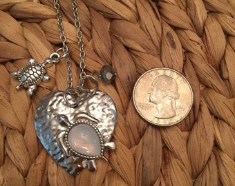 Sea Turtle or Owl Necklace & Charm