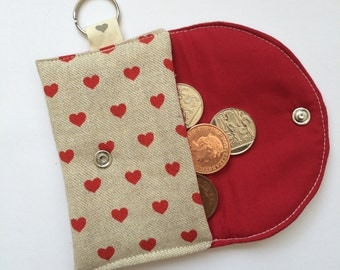 linen key chain  purse