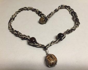 HEMP & CROCHET Aragonite Necklace