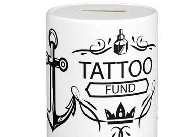 Tattoo Saving Fund, Fun Ceramic Money Box / Piggy Bank