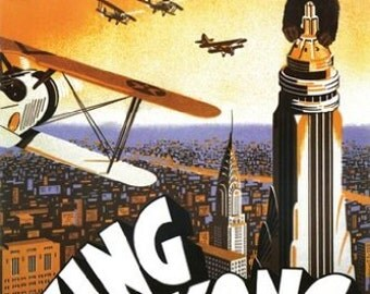 King Kong Movie Poster - Vintage - Rare Hot New 24X36