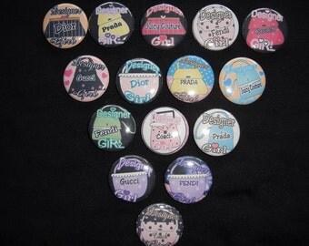 Designer Girl Buttons  Set of 15