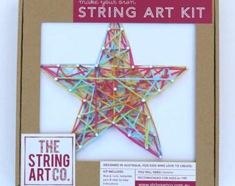 String Art Kit: Star, Beginner, Multi-coloured, Craft Kit, Craft Gift, DIY Craft Kit, String Art