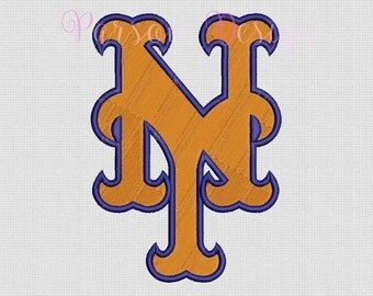 New York Mets - 9 Size Embroidery Designs Baseball Logos ~ INSTANT DOWNLOAD ~ Machine Embroidery Pattern