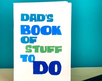 Dad's Notebook - personalised - gift for dad - gift for grandfather - to do list - journal - daddy's great ideas - gift for him - fun