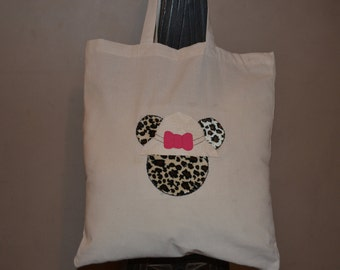 Disney Inspired Safari Minnie Mouse Canvas Tote Bag