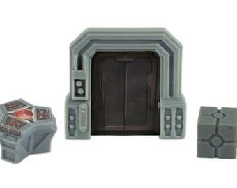 Star Wars Imperial Assault Custom Door, Terminal, & Crate Token 20 Piece Set