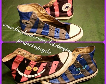 Hand painted: Cheshire Cat Shoes