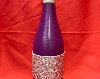 Decorated Bottle with Glitter Sleeve