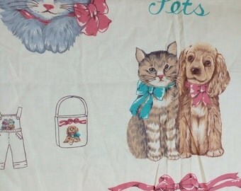 Vintage Panel #178 titled Particular Pets with FREE SHIPPING