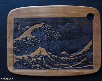 inspired engraved bamboo Japanese print