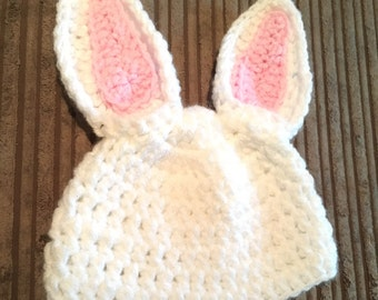 Crochet bunny hat, finished item