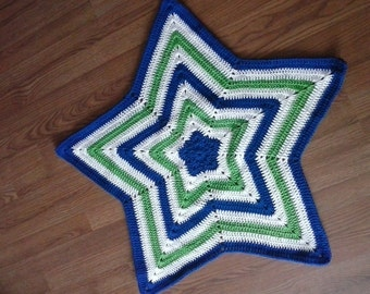 Crochet Star shaped baby blanket