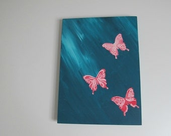 Butterfly Rain Painting