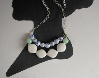 Anthro Inspired Glass Bead Statement Necklace
