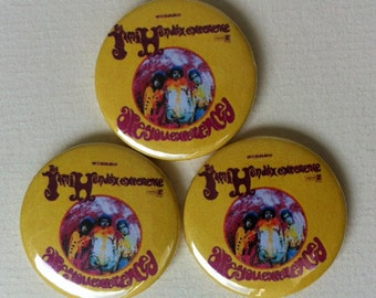 "Jimi Hendrix ""Are You Experienced"" Pinback Button"