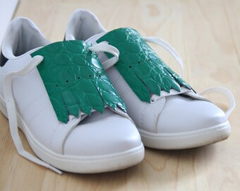 SHOESTACHES - Green crocodile
