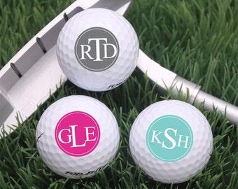 18 pcs Block Monogram Golf Balls (MIC39)