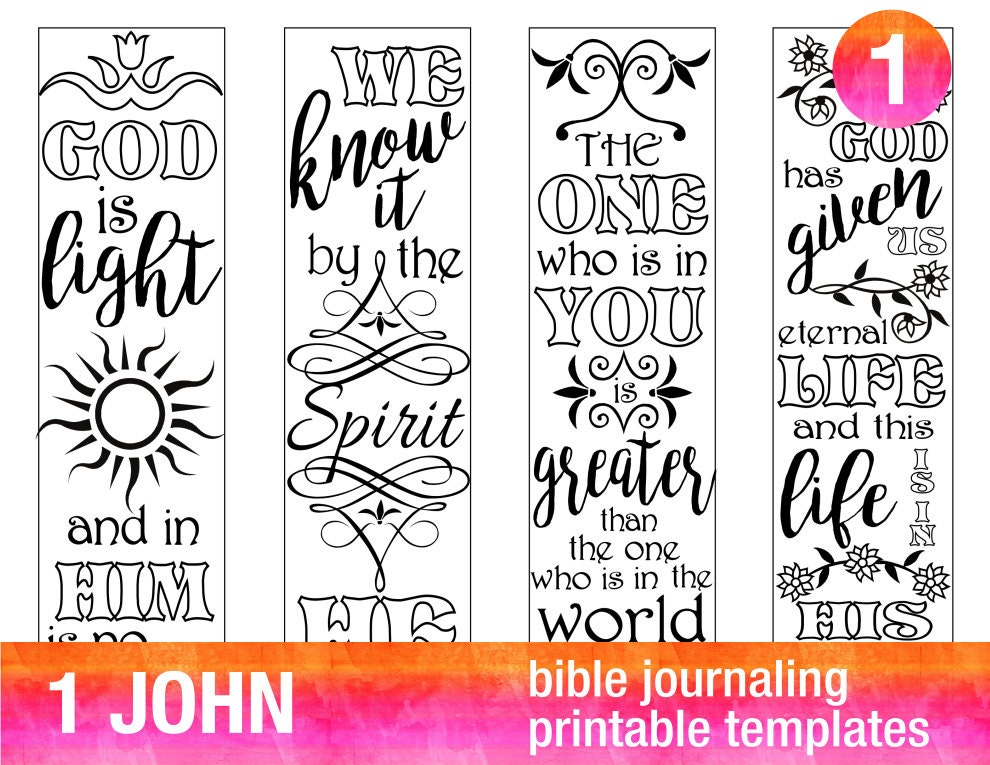 4 Bible Journaling Printable Illustrated Faith Bible
