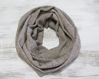 Natural Cotton Buldan Beige Infinity Scarf/Cotton Voile Fabric/Loop Scarf/Shawls/Gift for Her&Him/Spring,Summer,Fall Accessories