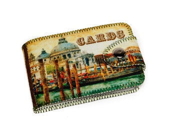 Venice Card Case, Business Card Case, Credit Card Holder, Italian Wallet, Venice Wallet, Gift Card Holder, Gift for Her, 4020