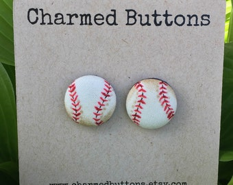 Play Ball Button Earrings
