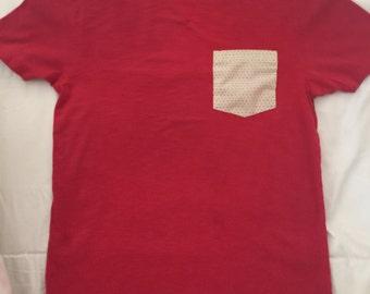 Polka Dotted Pocket Tshirt