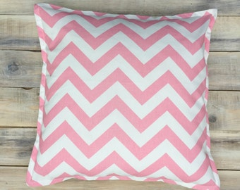 READY TO SHIP! Pink Zigzag Pillow with Cotton Cover 40x40 cm