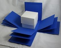 Dark Blue Exploding Box Shell with BONUS Gift Box - DIY Decorating - Explosion Box