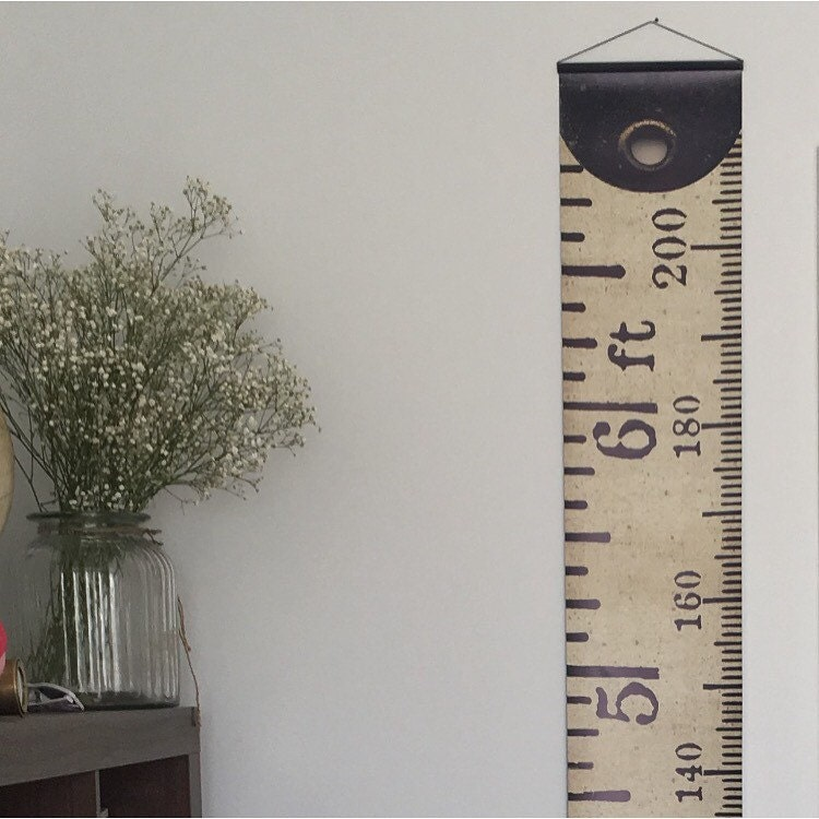 vintage inspired tape measure hanging height chart ruler growth chart imperial u0026 metric height chart feet and metres high quality banner