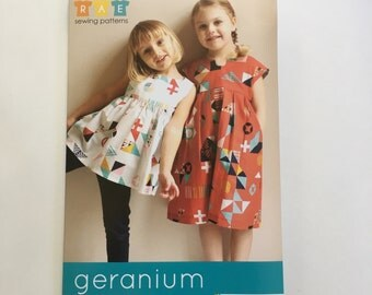 Geranium Dress Pattern, Geranium Pattern, Children's Clothing Pattern, Kid's Clothing, Children's Apparel sewing pattern, Kid's sewing