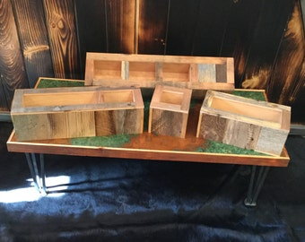 Reclaimed Barnwood planters