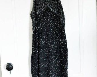 Rare Beaded Vintage Halter Dress
