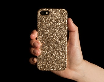 Glitter iPhone Case for iPhone 4/4S, 5/5S, SE, 6/6S & 6/6S Plus - Gold