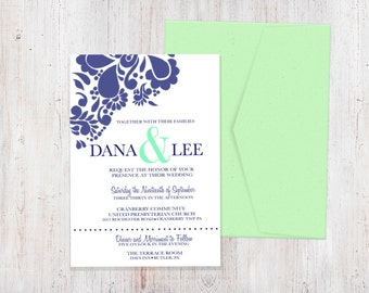 Wedding Invitation - Pretty in Paisley {Customized Printable Invitation}