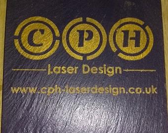 Slate Coasters - Personalised