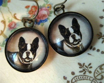 French Bulldog / Boston Terrier Earrings