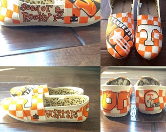 Women's Hand Painted Canvas Shoes / Custom Painted Shoes/ Personalize/ Sports Teams / College / NFL / MLB / NBA